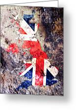 Uk Flag Map Greeting Card
