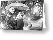 Ula And Wojtek Engagement 7 Greeting Card