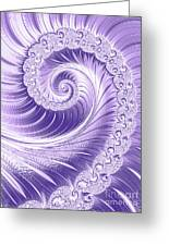 Ultra Violet Luxe Spiral Greeting Card