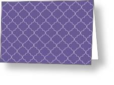 Ultra Violet Quatrefoil Greeting Card
