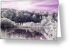 Ultraviolet Gazebo Greeting Card