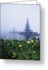 Ulu Danu Temple Greeting Card