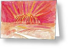 Uluru Lightning Greeting Card