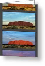 Uluru Sunset Greeting Card