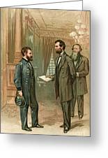 Ulysses S. Grant With Abraham Lincoln Greeting Card