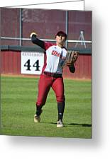 Umass Outfielder 4 Greeting Card
