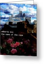 Umberto  Eco Poster  Greeting Card