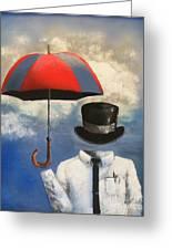 Umbrella Greeting Card by Crispin  Delgado
