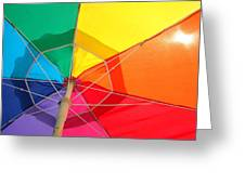 Umbrella In Sunlight Greeting Card