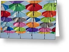 Umbrella Rainbow Greeting Card