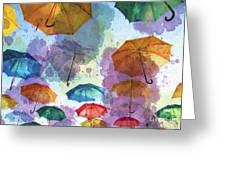 Umbrella Sky Greeting Card