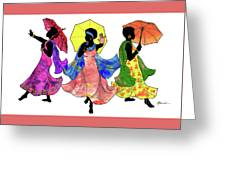 Umbrella Strut Greeting Card