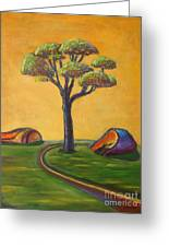Umbrella Tree Greeting Card