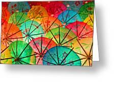 Umbrellas Galore Greeting Card