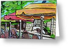 Umbrellas Greeting Card by TM Gand