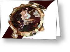 Umbria Florals Timepiece Greeting Card