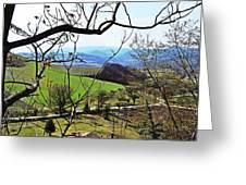 Umbria Mountains Greeting Card