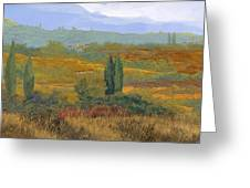 un altro pomeriggio in Toscana Greeting Card by Guido Borelli