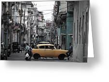 Un Taxi Amarillo Greeting Card