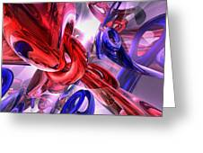 Unchained Abstract Greeting Card
