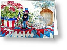 Uncle Sam And Star Cookies Greeting Card