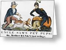 Uncle Sam: Cartoon, 1840 Greeting Card