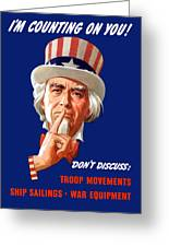 Uncle Sam - I'm Counting On You Greeting Card