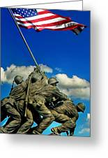 Uncommon Valor Greeting Card by Don Lovett