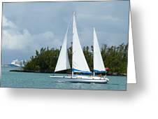 Under Full Sail Greeting Card