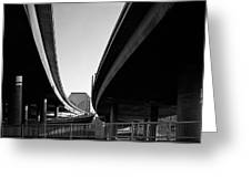 Under Interstate 5 Sacramento Greeting Card