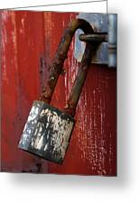 Under Lock And Key Greeting Card