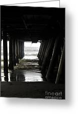 Under Santa Monica Pier Greeting Card