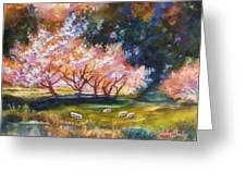 Under The Blossom Trees Sold Greeting Card