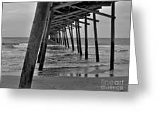 Under The Boardwalk Alantic Beaches Nc Greeting Card