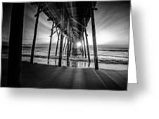 Under The Boardwalk Bw 1 Greeting Card
