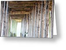 Under The Boardwalk Except It's The Pier Greeting Card