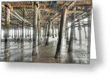 Under The Boardwalk Into The Light Greeting Card
