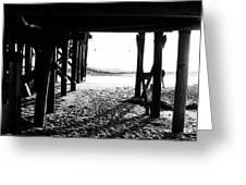 Under The Boardwalk Greeting Card