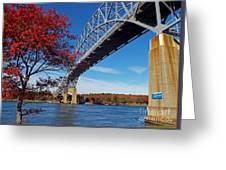 Under The Bourne Bridge Greeting Card