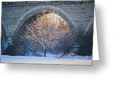 Under The Bridge, A Winter's Song Greeting Card