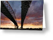 Under The Bridge Greeting Card