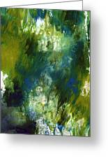 Under The Canopy- Abstract Art By Linda Woods Greeting Card