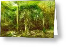 Under The Canopy Of The Antediluvian Forest Greeting Card