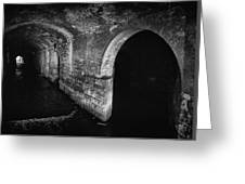 Under The Dark Arches Greeting Card