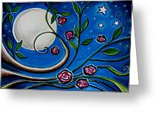 Under The Glowing Moon Greeting Card