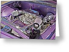 Under The Hood 66 Impala_1b Greeting Card