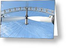 Under The London Eye Greeting Card