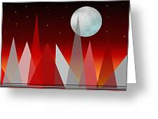 Under The Night Sky Greeting Card