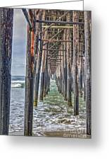 Under The Oceanside Pier Greeting Card