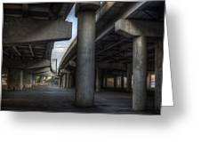 Under The Overpass I Greeting Card by Break The Silhouette
